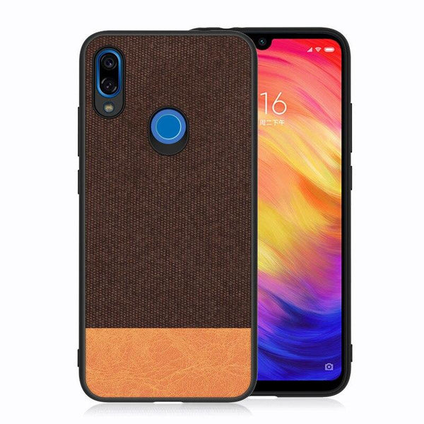 Canvas Brown Fabric Cover - Redmi Note 7 & 7 Pro - Mobilegadgets360