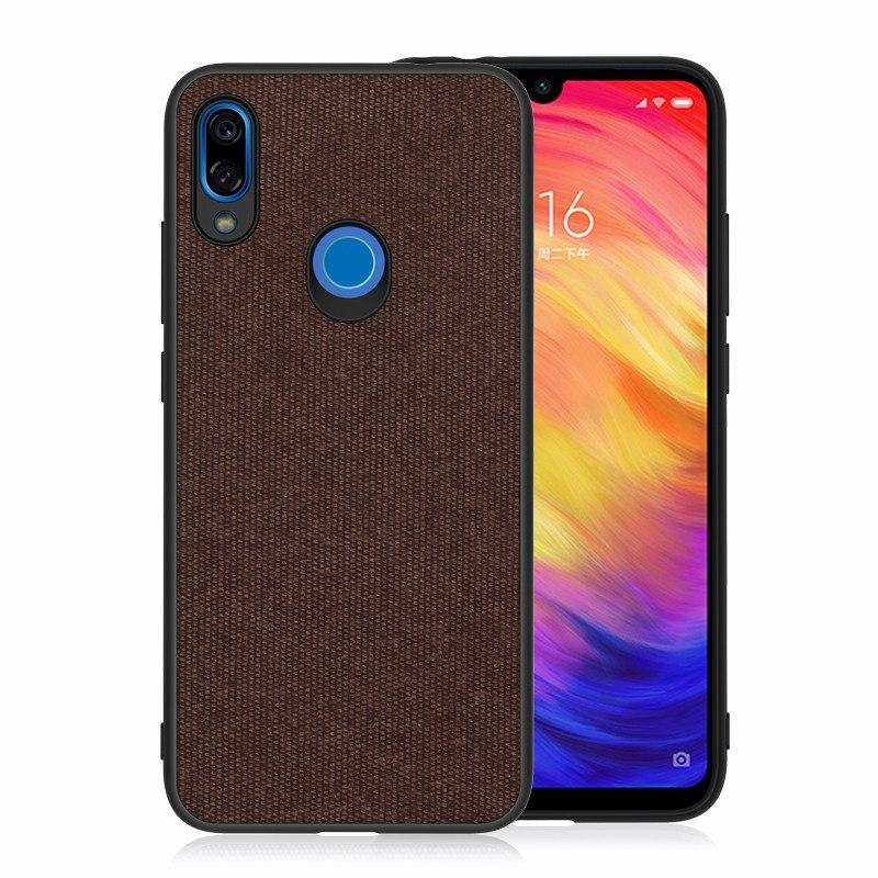 Plain Brown Fabric Cover - Redmi Note 7 & 7 Pro - Mobilegadgets360