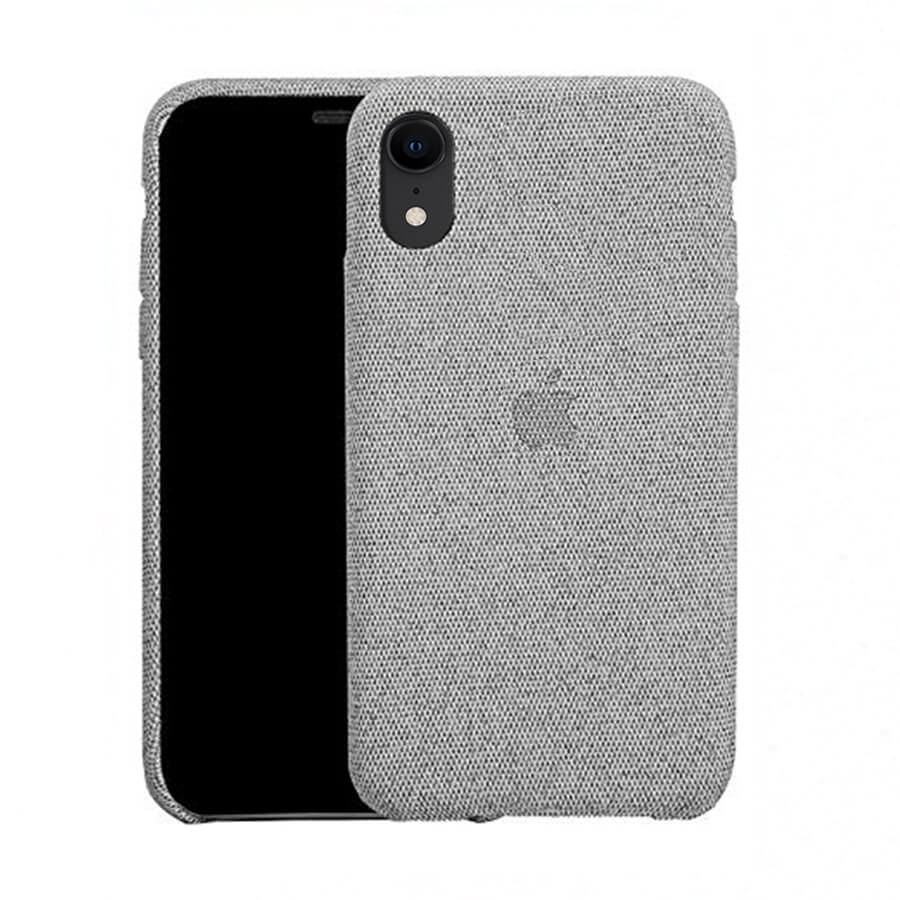 Light Grey Fabric Case - iPhone XR