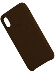 Fabric Cover For iphone X - Brown - Mobilegadgets360