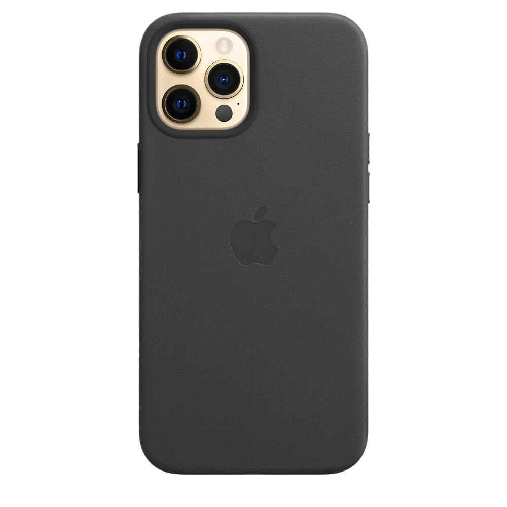 iPhone 12 Pro Max Leather Case - Black