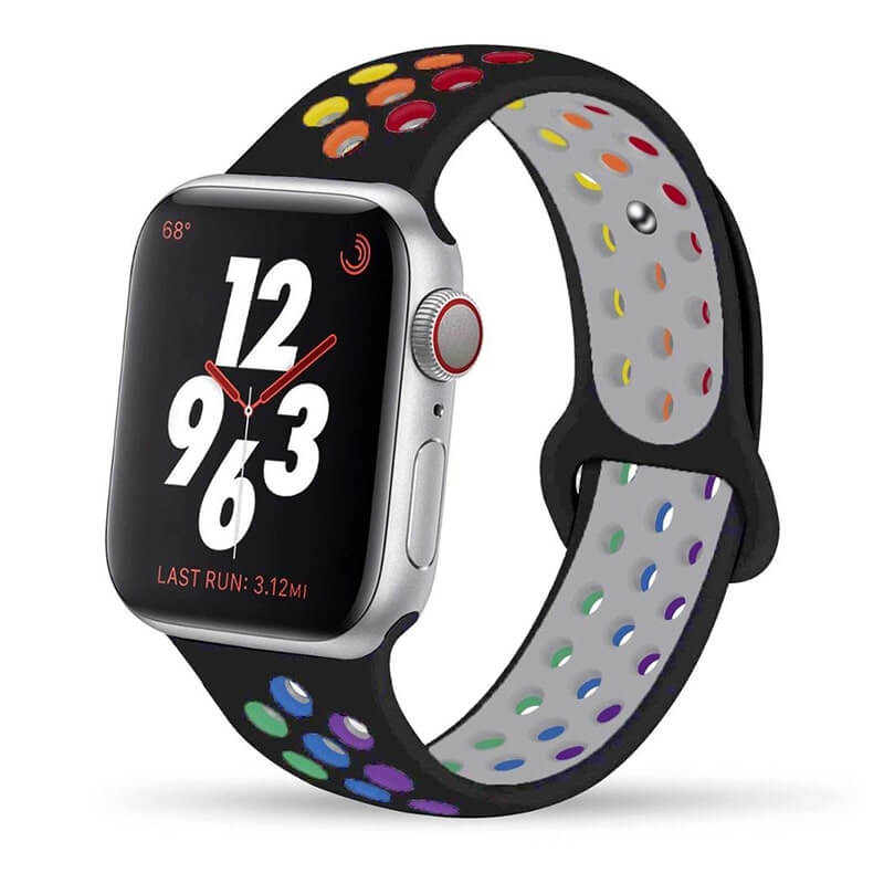 Black Rainbow Apple Watch Band ( 42/44mm)