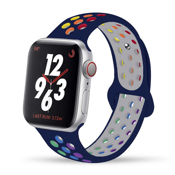 Blue Rainbow Apple Watch Band ( 42/44mm)