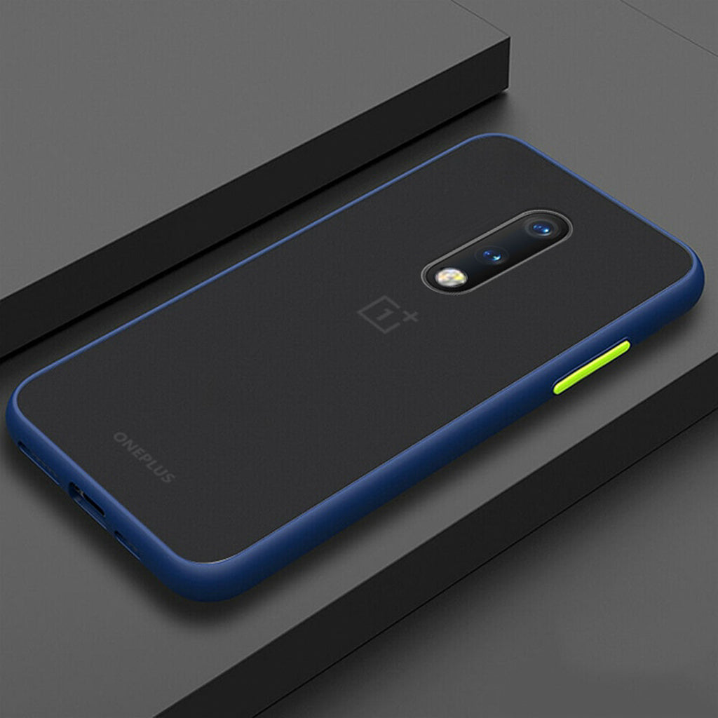 Smoke Matte Case For OnePlus 7 - Blue
