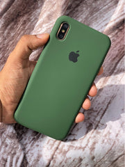 Forest Green Liquid Silicon Case - iPhone X / XS - Mobilegadgets360