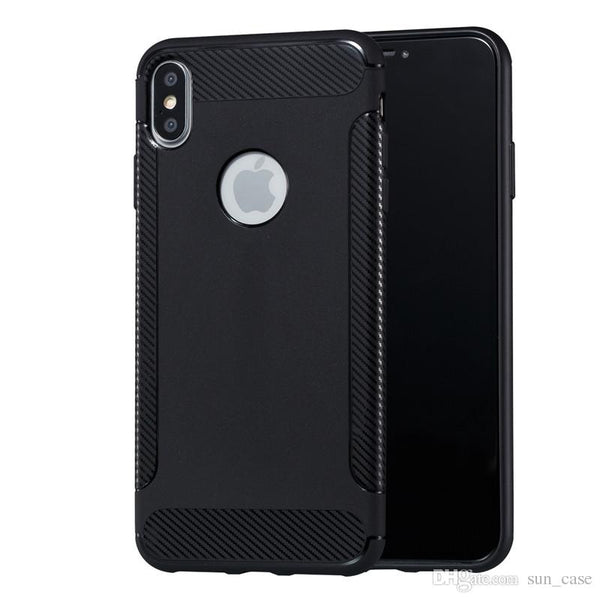 Rubber Sillicone Case Black - iPhone X & XS - Mobilegadgets360