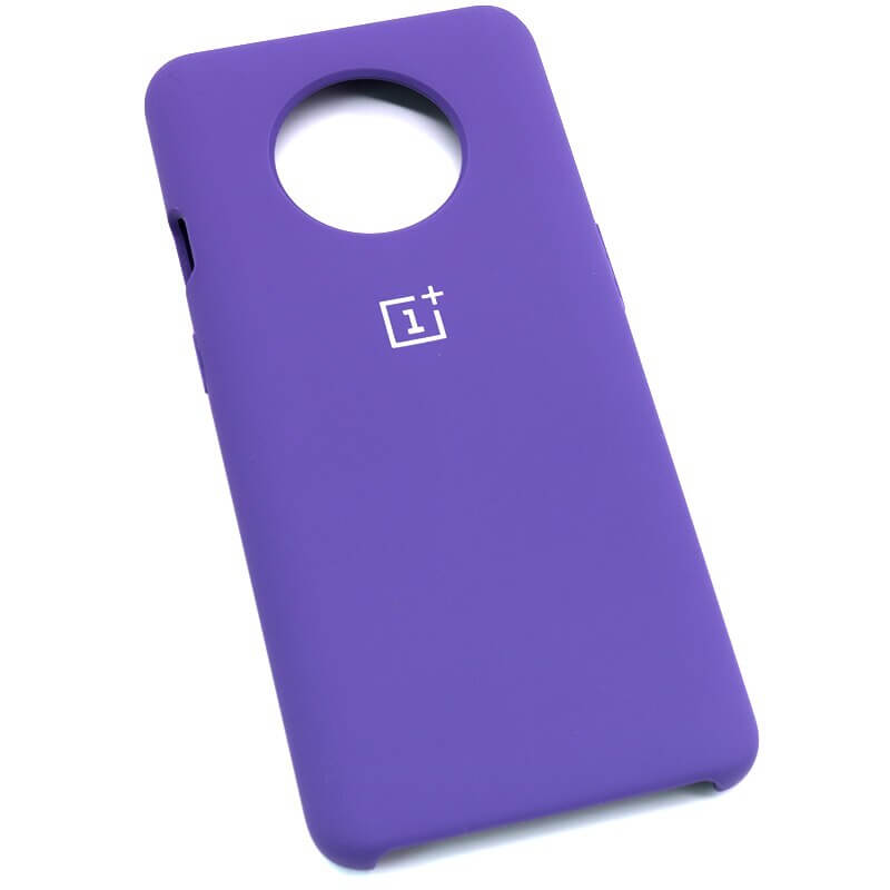 Purple Silicone Case For OnePlus - 7T