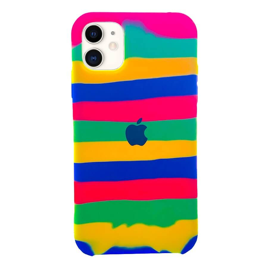 iPhone 11 Silicone Rainbow Case