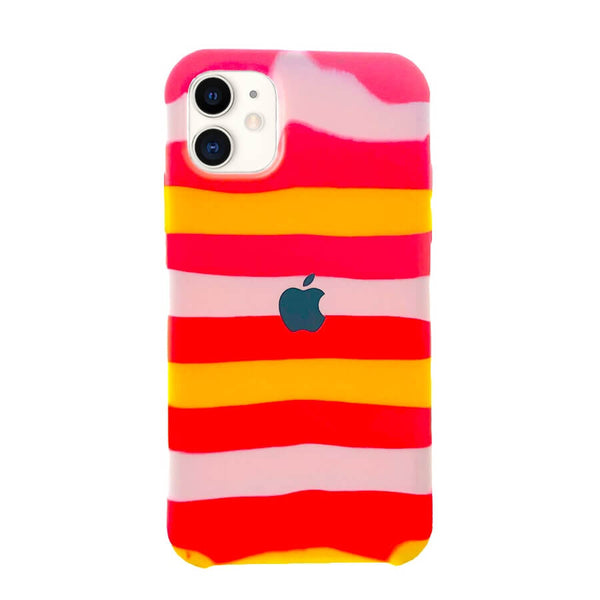 iPhone 11 Silicone Rainbow Case - Tiring