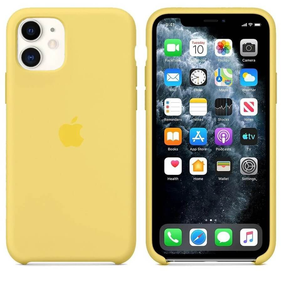 iPhone 11 Silicone Case - Yellow