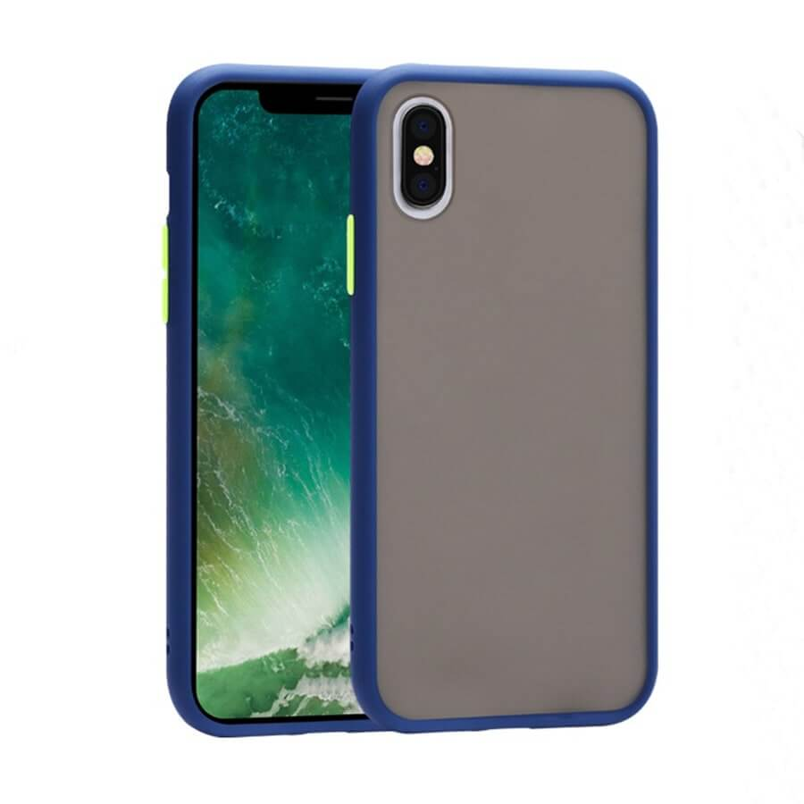 iPhone XS Max Matte Case - Blue