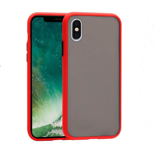 iPhone XS Max Matte Case - Red