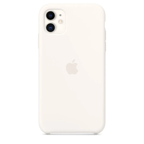 Silicon Case For iPhone 11 - White - Mobilegadgets360
