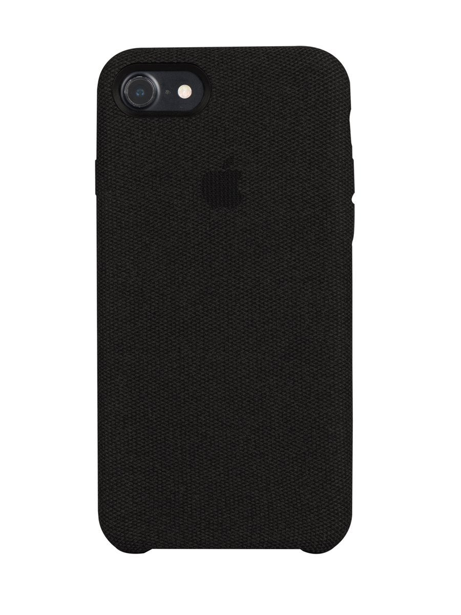 Fabric Cover For iPhone 8 - Black - Mobilegadgets360