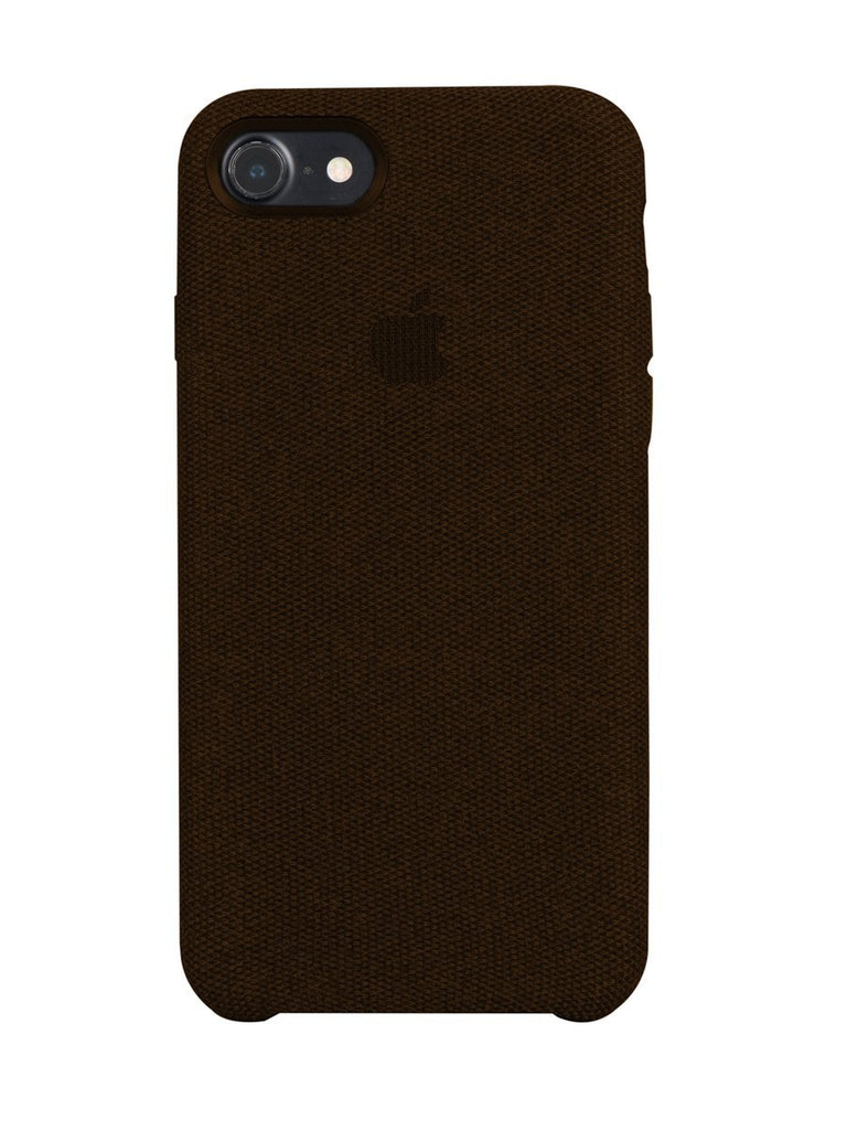 Fabric Case For iPhone 8 - Brown - Mobilegadgets360