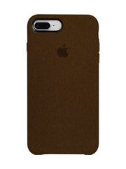 Fabric Case For iPhone 8 Plus - Brown - Mobilegadgets360