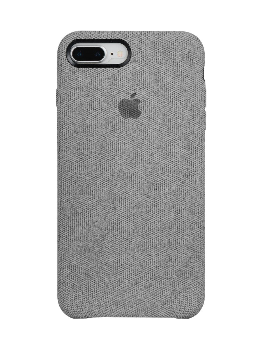 Fabric Case For iPhone 8 Plus- Light Grey - Mobilegadgets360