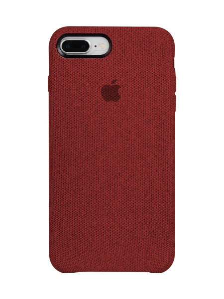 Fabric Case For iPhone 8 Plus - Red - Mobilegadgets360