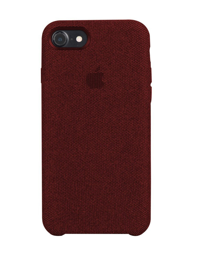 Fabric Case For iPhone 8 - Red - Mobilegadgets360