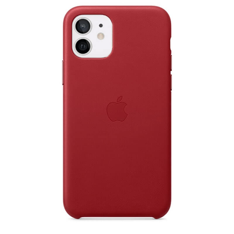 iPhone 11 Leather Case - Red
