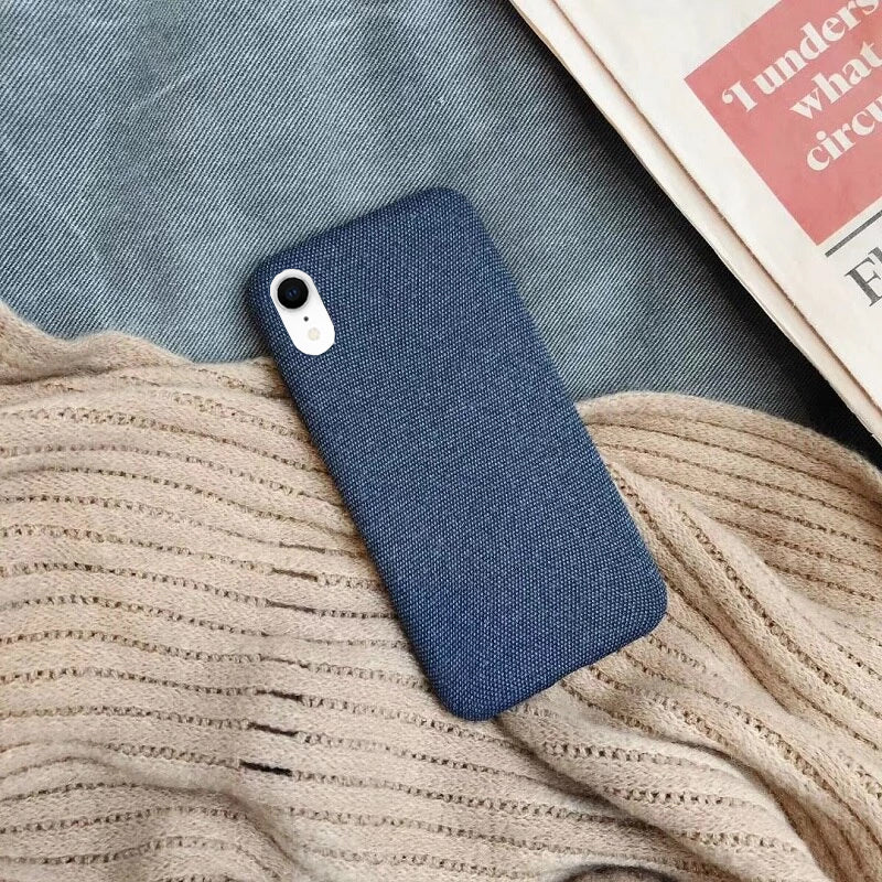 Blue Fabric Case - iPhone XR - Mobilegadgets360