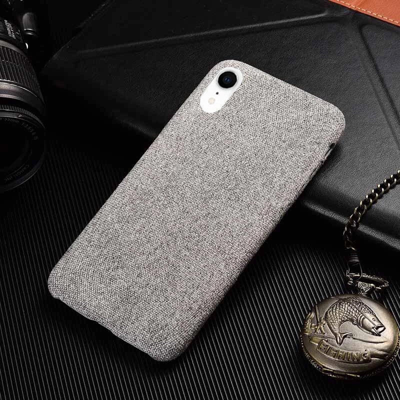 Light Grey Fabric Case - iPhone XR - Mobilegadgets360