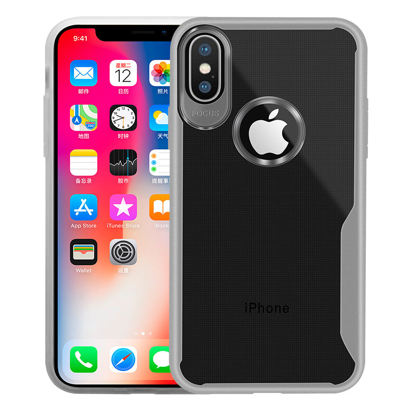 Transparent Case iPhone X - White - Mobilegadgets360