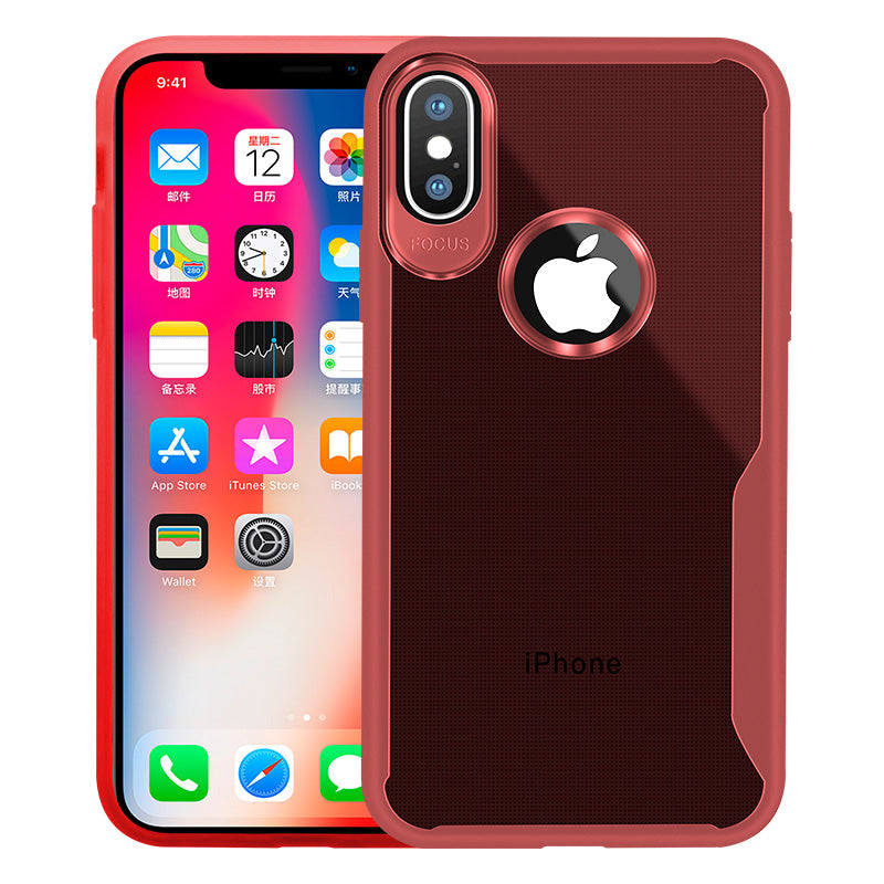 Transparent Case iPhone X - Red - Mobilegadgets360