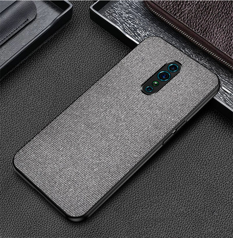 Plain Grey Fabric Cover - OPPO Reno Z - Mobilegadgets360