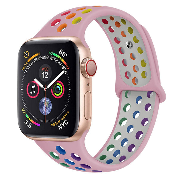 Pink Rainbow Apple Watch Band ( 42/44mm)