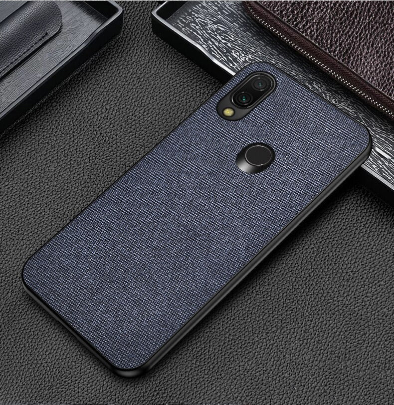 Blue Plain Fabric Cover - Realme 3 Pro - Mobilegadgets360