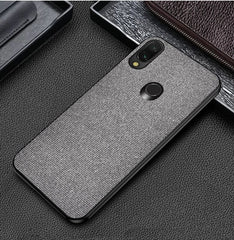 Plain Grey Fabric Cover - Redmi Note 7 Pro - Mobilegadgets360