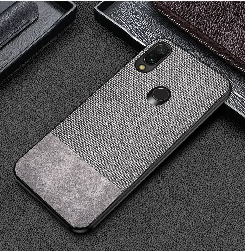 Canvas Brown Fabric Cover - Redmi Note 7 - Mobilegadgets360