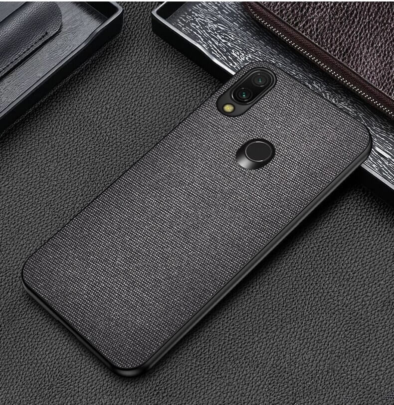 Plain Black Fabric Cover - Redmi Note 7 - Mobilegadgets360