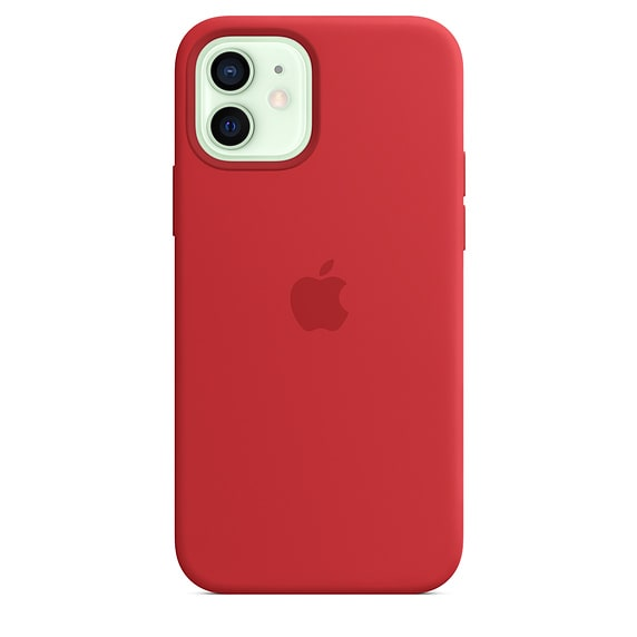 iPhone 12 Mini Silicone Case - Red