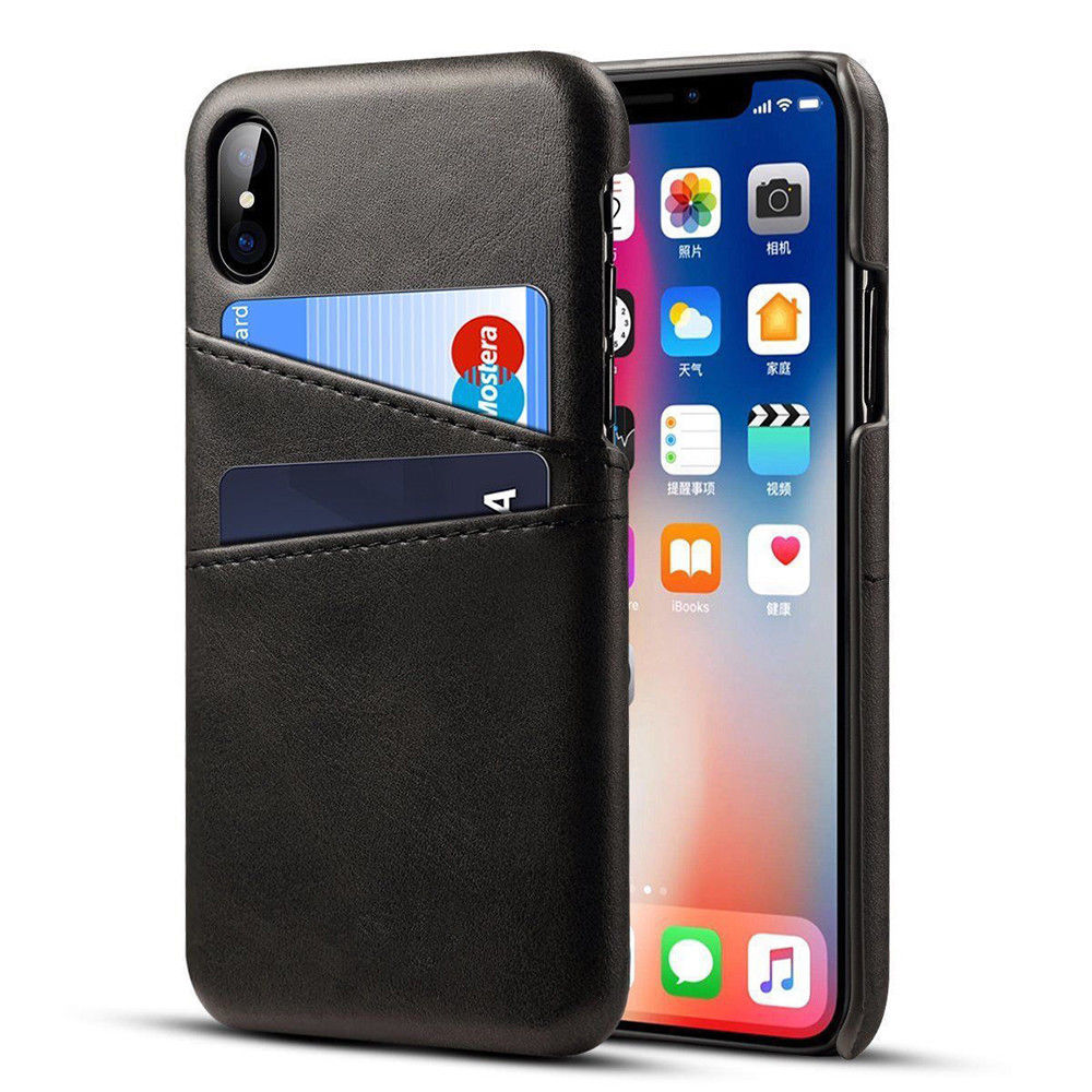 Leather Card Holder & Wallet Case For iPhone X / XS - Mobilegadgets360