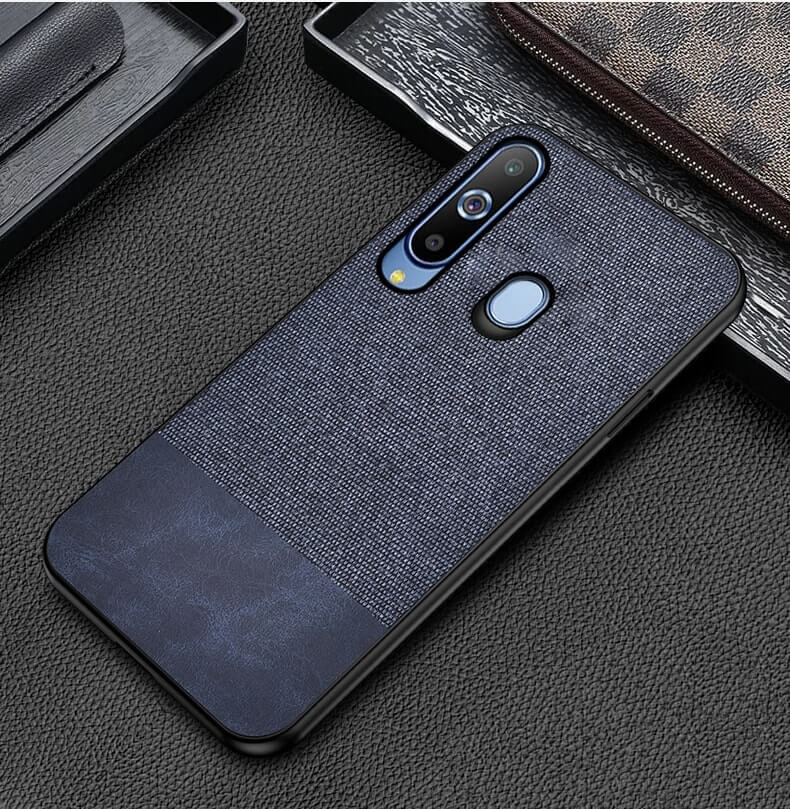 Blue Canvas Fabric Cover - Samsung M40 - Mobilegadgets360