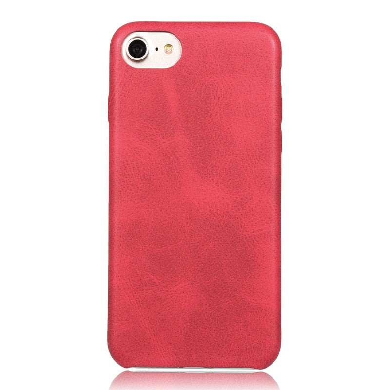 Holster Soft Leather Case For iPhone 6 / 6S - Red - Mobilegadgets360