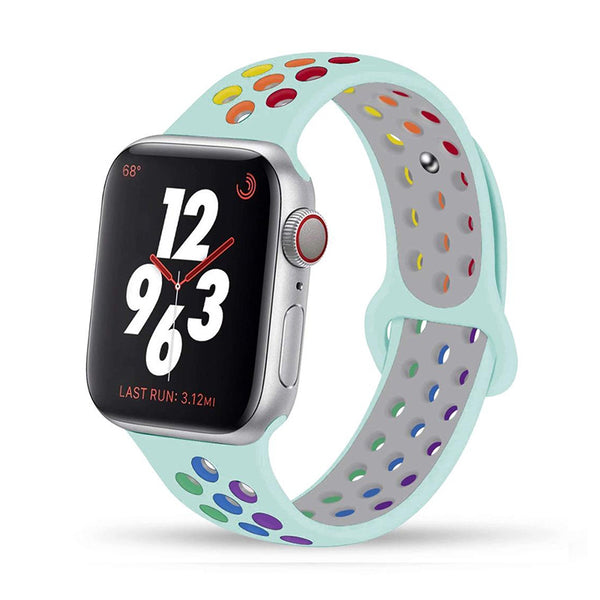Turquoise Rainbow Apple Watch Band ( 42/44mm)