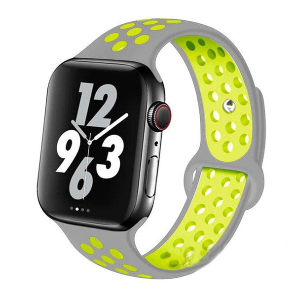 Silver Volt Sports Apple Watch Band ( 42/44mm)