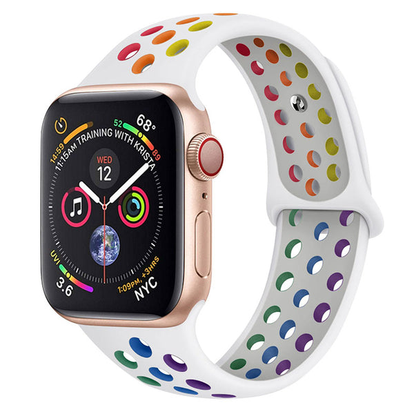 White Rainbow Apple Watch Band ( 42/44mm)