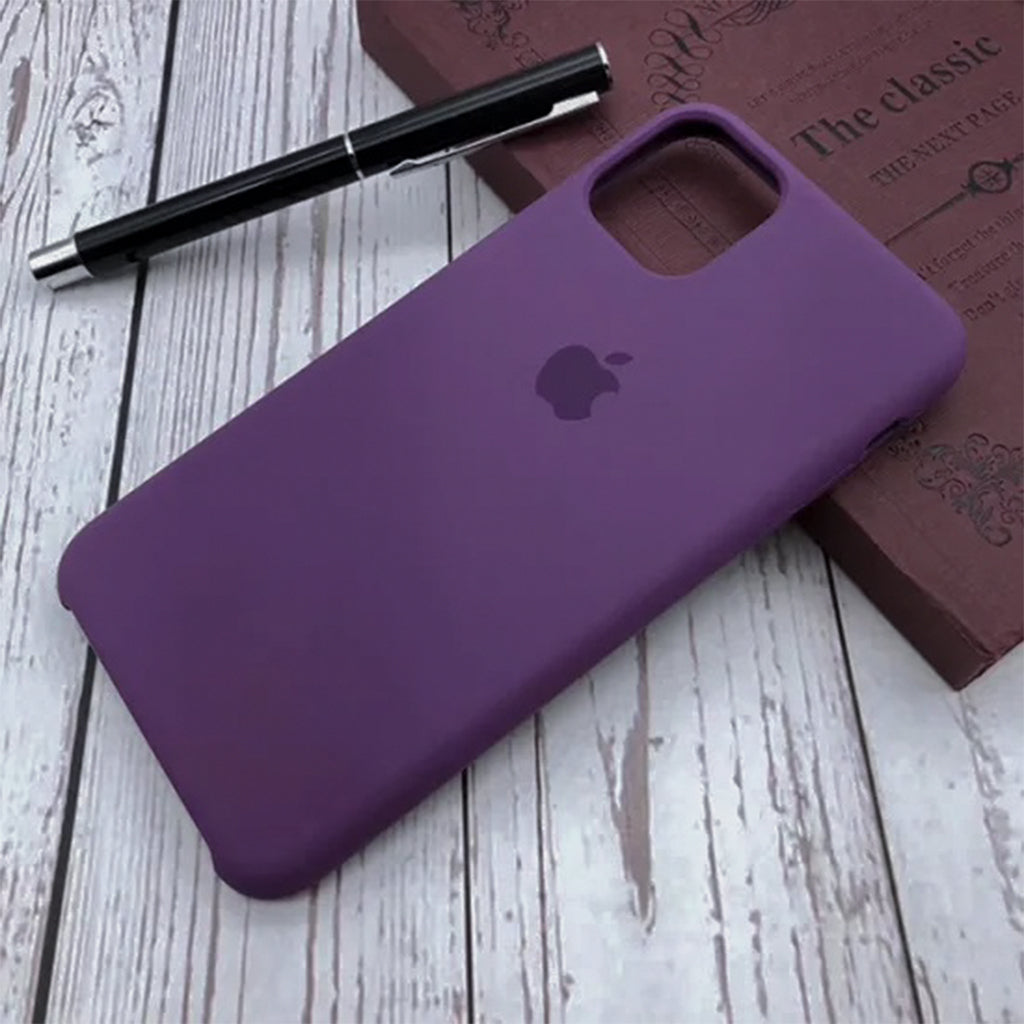Silicone Case For iPhone 11 Pro Max - Purple Wine