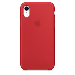 Red Liquid Silicon Case - iPhone XR