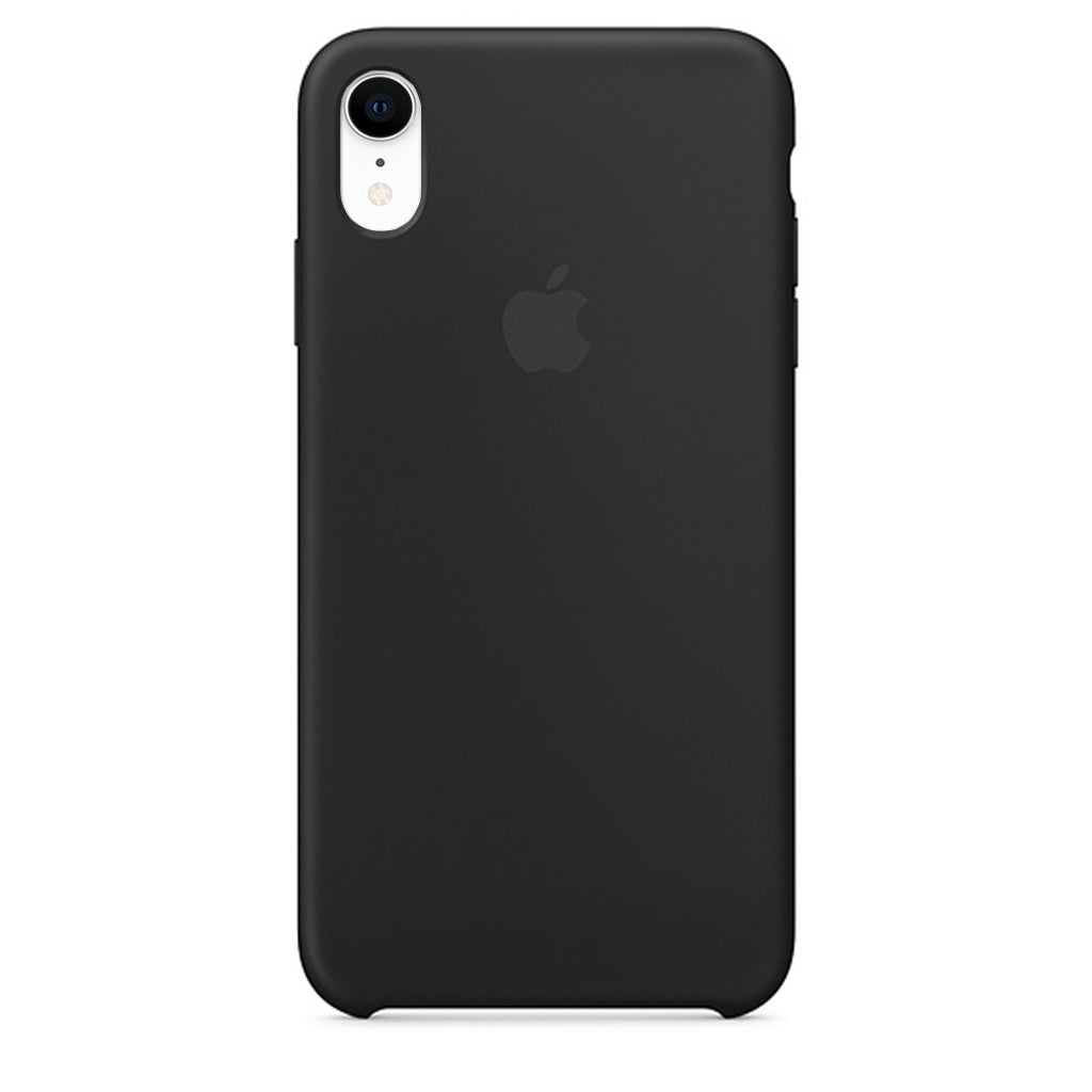 Black Liquid Silicon Case - iPhone XR