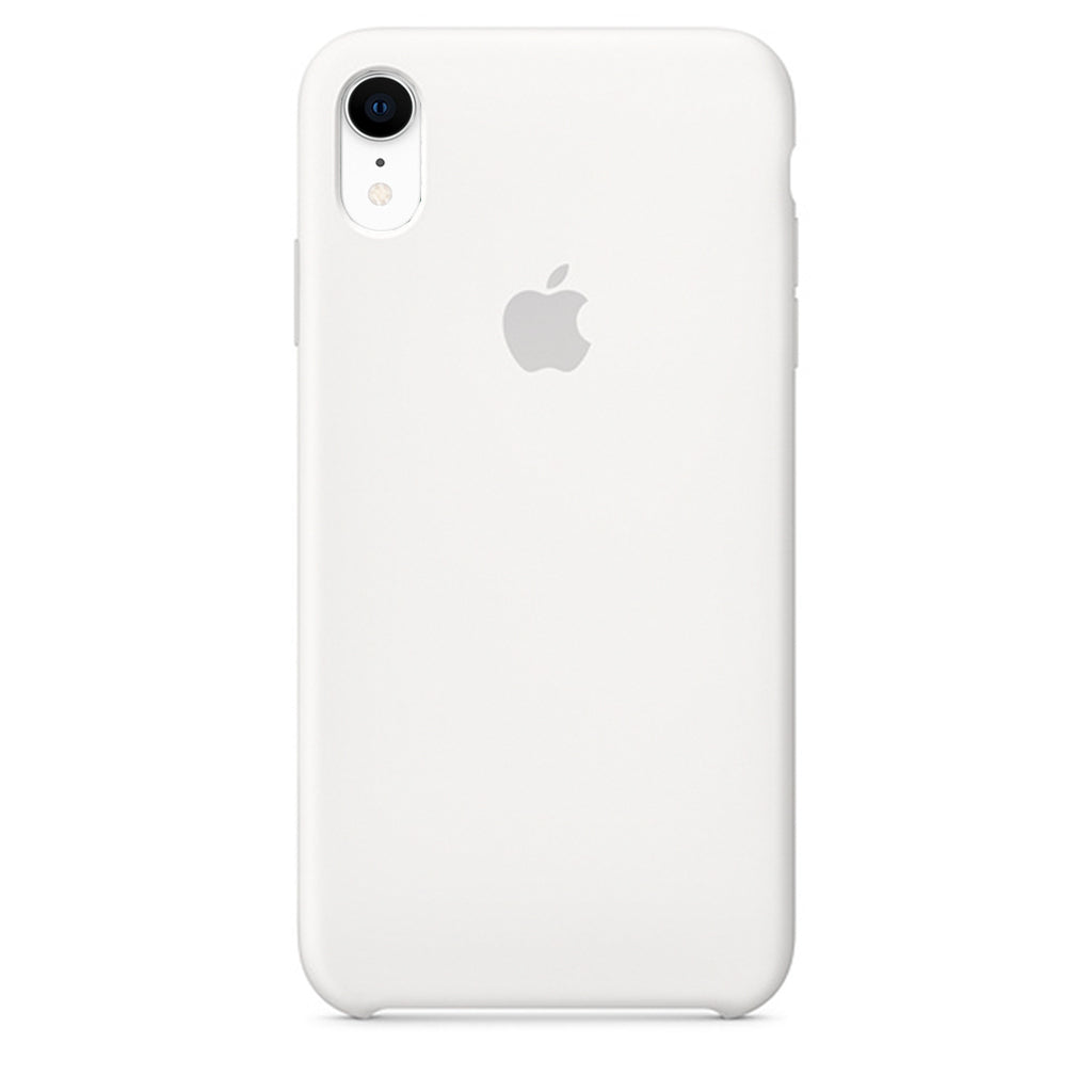 Silicone Case For iPhone XR - White