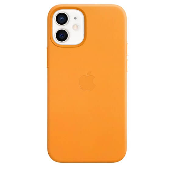 iPhone 12 & 12 Pro Leather Case - Poppy