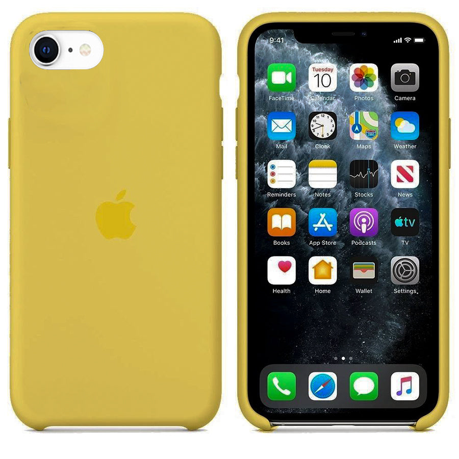 Yellow Liquid Silicone Case - iPhone SE