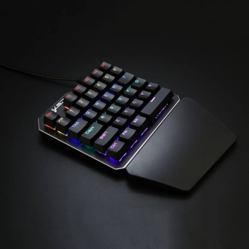 a34b303f0a9 ... One-Handed Metal Plated Mechanical Gaming Keypad | 35 Keys Black  Switches, LED Backlighting ...
