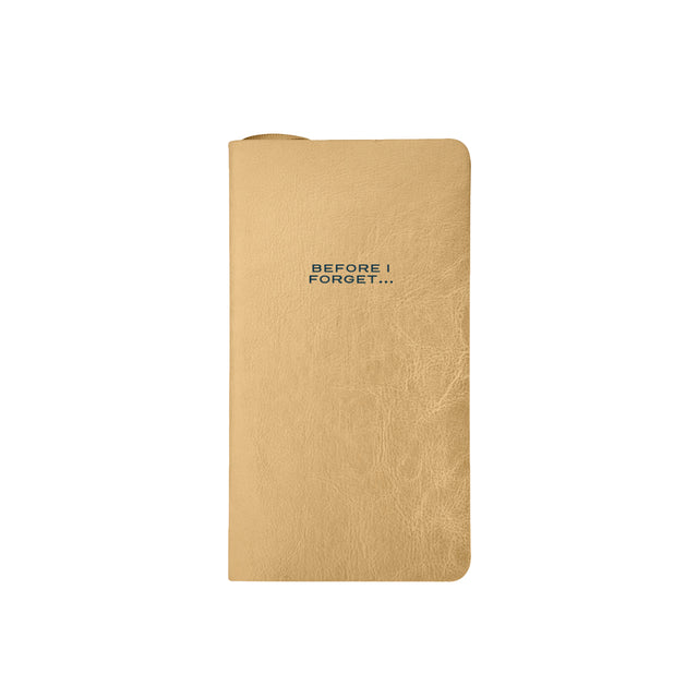 'Before I Forget' Berkley Notebook - Gold