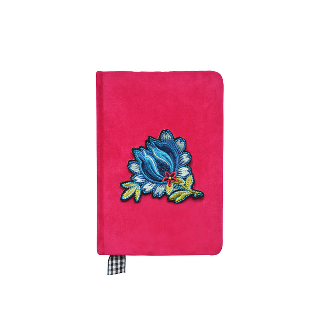 """Flower"" Velvet A6 Notebook"